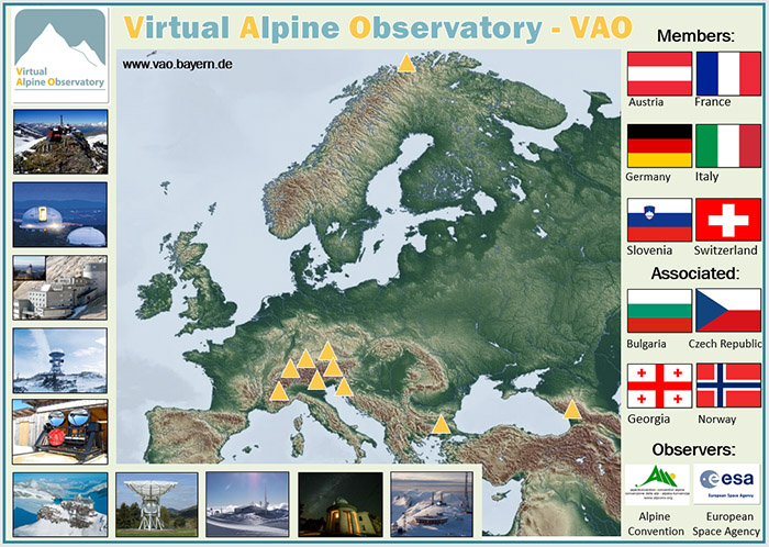 Memebrs of VAO are Austria, France, Germany, Italy, Slovenia, Switzerland, Associated are: Bulgaria, Czech Republic, Georgia and Norway